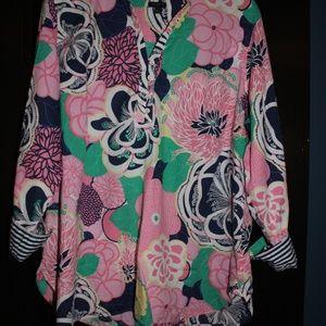 Talbots Flowered Tunic